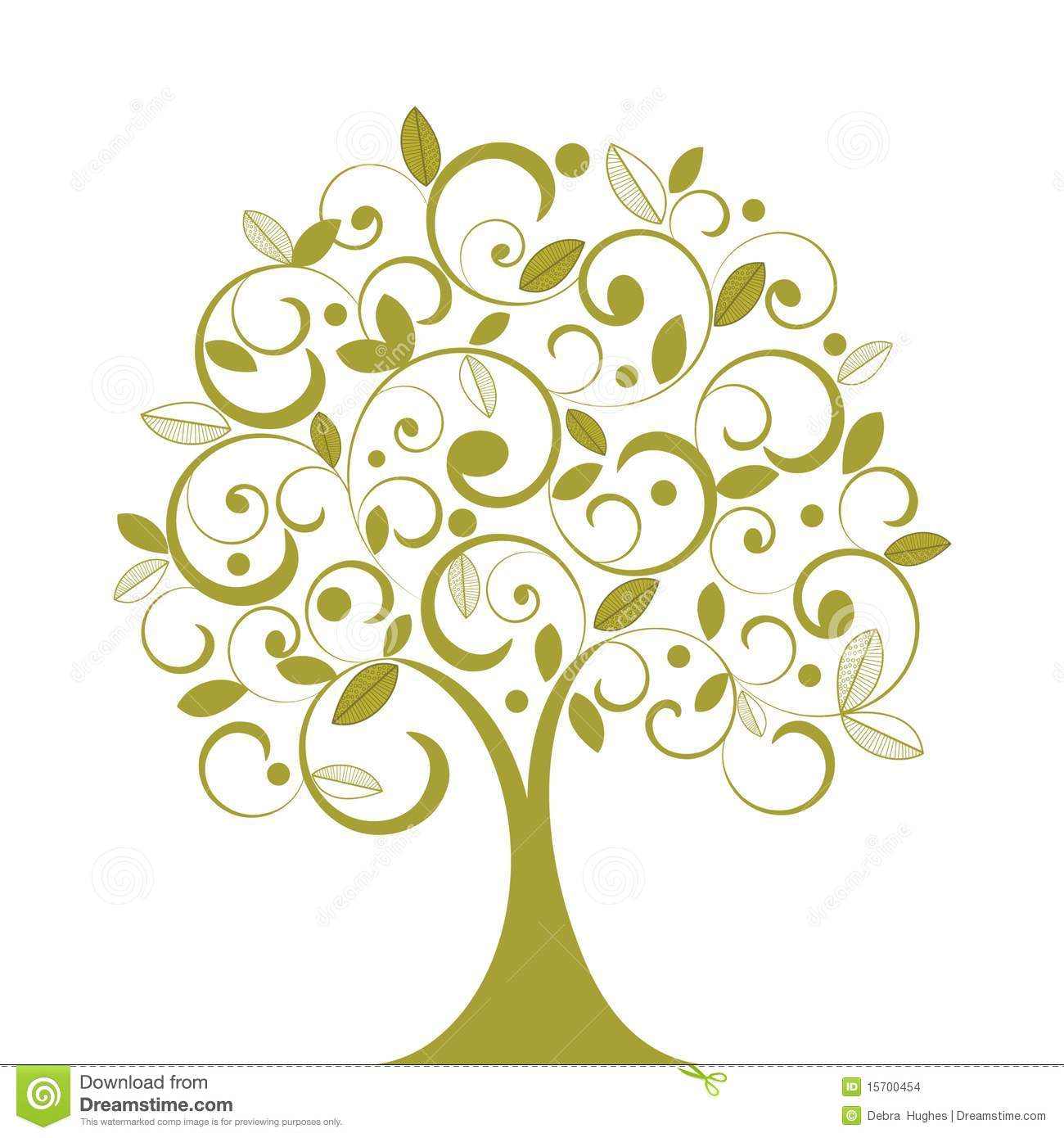 Illustration clipart whimsical tree 510 collection tree Whimsical a