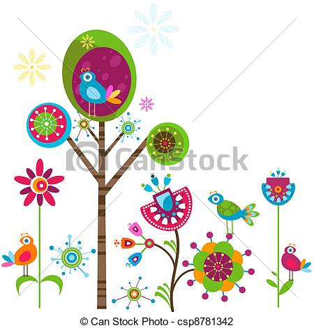 Illustration clipart whimsical tree Of and tree Vector whimsy