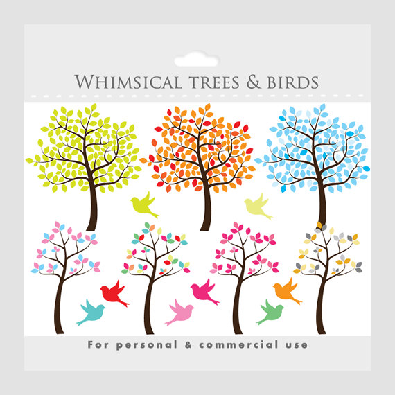 Branch clipart whimsical tree Birds Tree sweet tree clipart