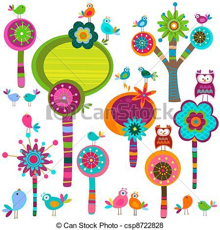 Illustration clipart whimsical tree Whimsy Clip Savoronmorehead Whimsical Vector
