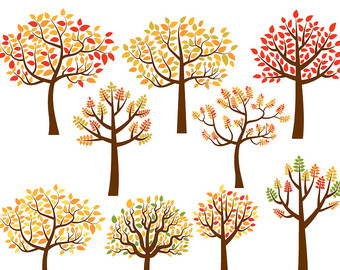 Wood clipart forrest Autumn forest art Fall clip