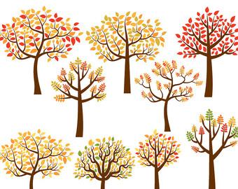 Wood clipart forrest Autumn forest art Whimsical art