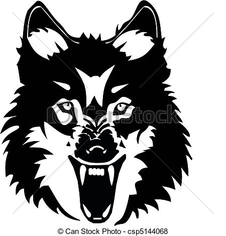 White Wolf clipart icon Wolf Vector at illustration Vector