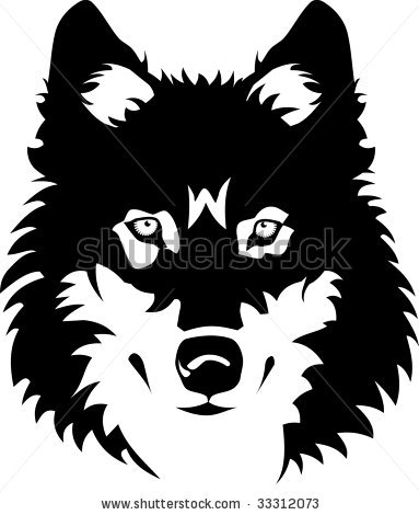 White Wolf clipart wolf head Face of karlovserg wolf tattoo