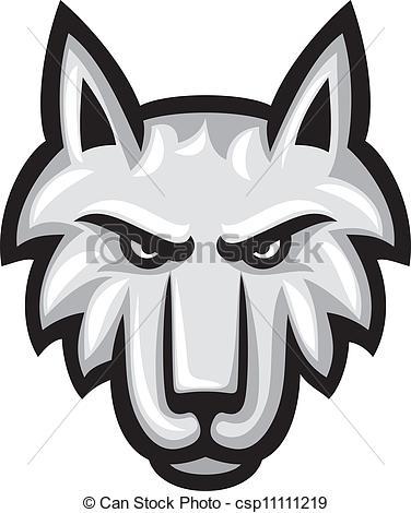 Illustration clipart wolf head Wolf Vector Art head of