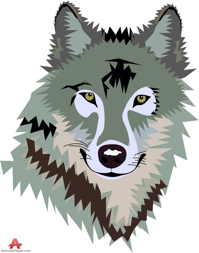 Illustration clipart wolf head Wolf Art Clipart Clip Art