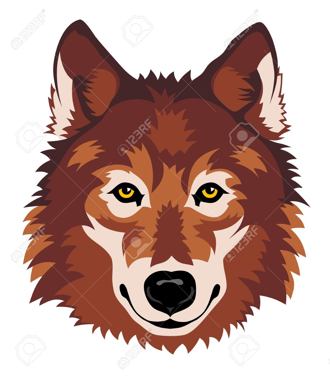 Illustration clipart wolf head Pinterest bear front animals Google