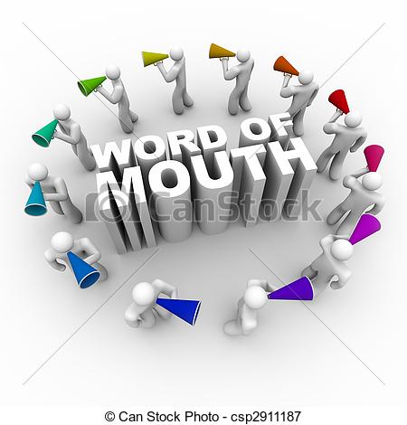Illustration clipart word mouth People Mouth Bullhorns Illustrations Illustration