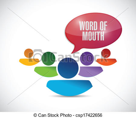 Illustration clipart word mouth Message team Clipart of word