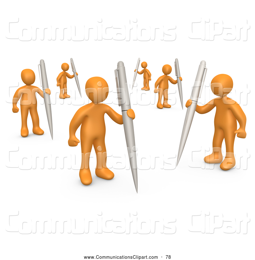 Illustration clipart written communication As Metaphor Holding Their a