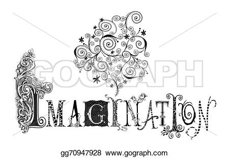 Imagination clipart Imagination word illustration Fanciful Clipart
