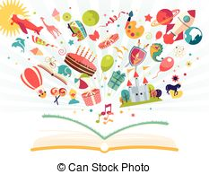 Imagination clipart homework Flying balloon book airplane open