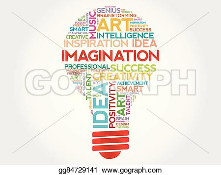 Imagination clipart intelligence Stock cloud Vector word Imagination