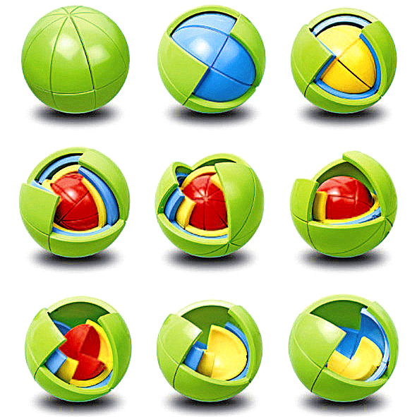 Imagination clipart intelligence Ball diy maze block ball