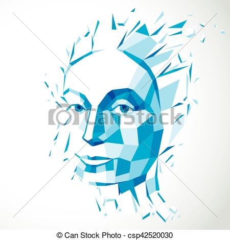 Imagination clipart intelligence Low 3d metaphor personality illustration