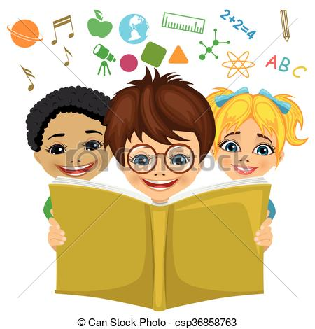 Imagination clipart kid education Csp36858763 book with Kids education
