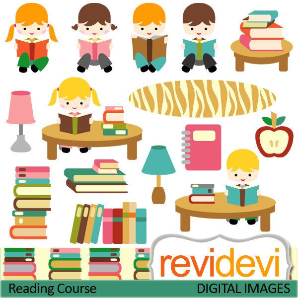 Imagination clipart kid library Reading  Course use Commercial