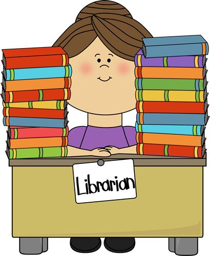 Women clipart librarian Stacks Top on Clip Pinterest