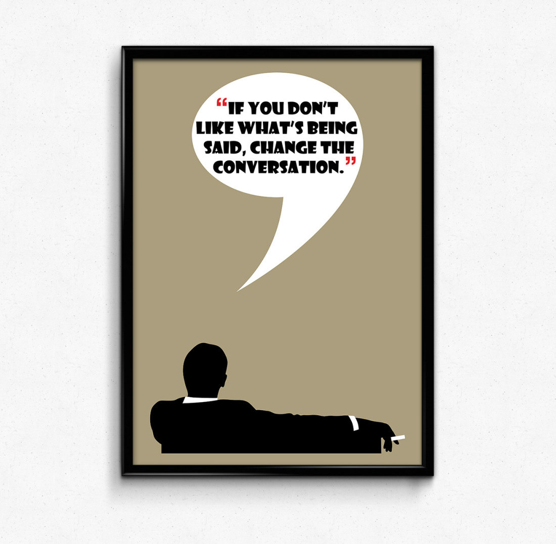 Imagination clipart mad man The Conversation Men Mad Print
