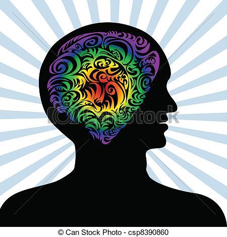 Imagination clipart mind  Modern Mind of flat