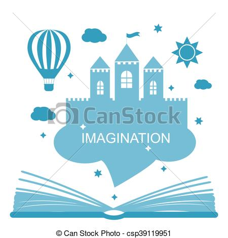 Imagination clipart open book Concept Imagination csp39119951 Clipart concept