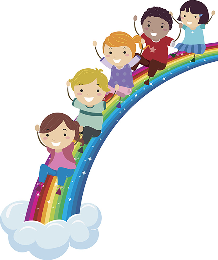 Imagination clipart rainbow Kids Rainbow Kids rainbow Environment