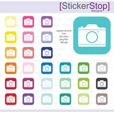 Imagination clipart rainbow colour Square  Clipart Rainbow Icon