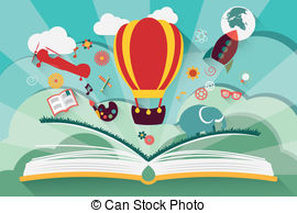 Imagination clipart science book With Stock book rocket