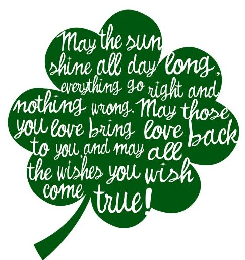 Imagination clipart st patricks day Writers Blessings St Day prayers