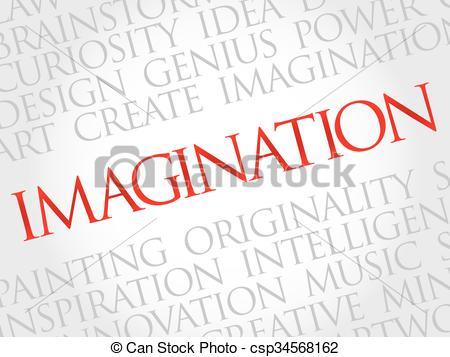 Word clipart imagination Vector csp34568162 concept cloud Clip