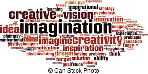 Imagination clipart the word Of word  Clip word