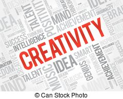 Imagination clipart the word Word Creativity Vector concept