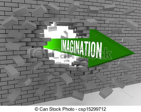 Word clipart imagination Of Arrow Imagination with Imagination