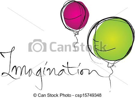 Word clipart imagination Vector of balloons Imagination and