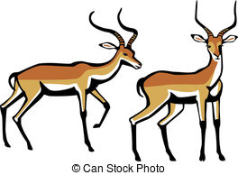 Impala clipart Illustrations royalty  antelope Impala