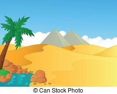 In The Desert clipart Of Vector Illustrations  desert
