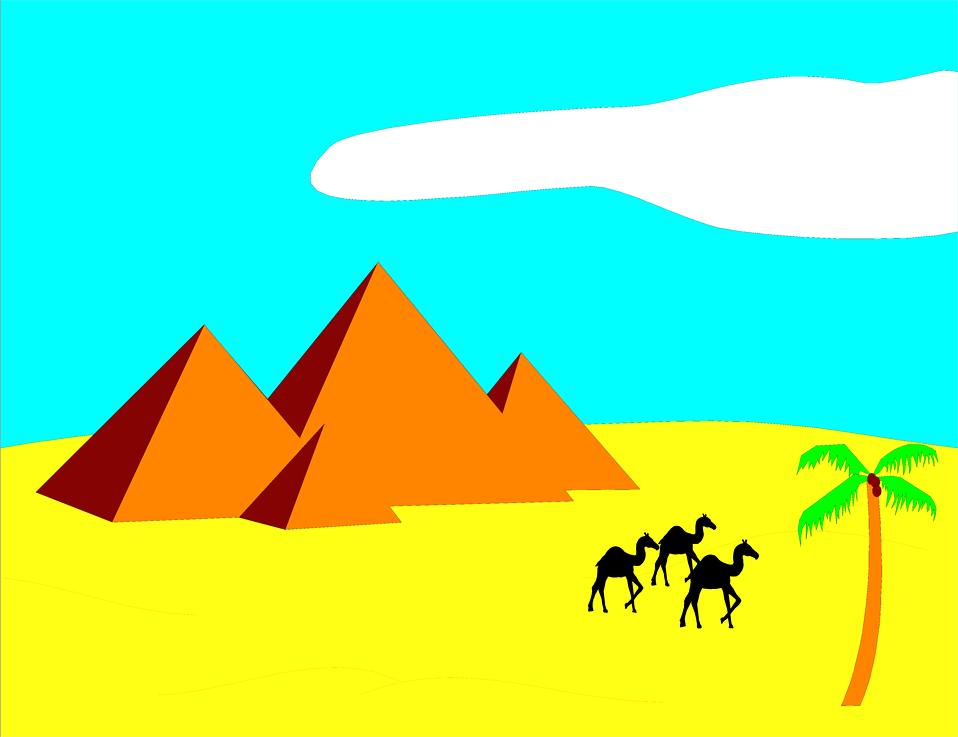 In The Desert clipart Free camels Pyramids in with