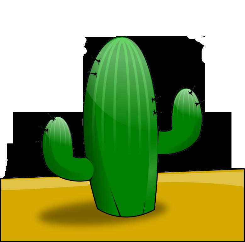 In The Desert clipart Art desert the cactus clip