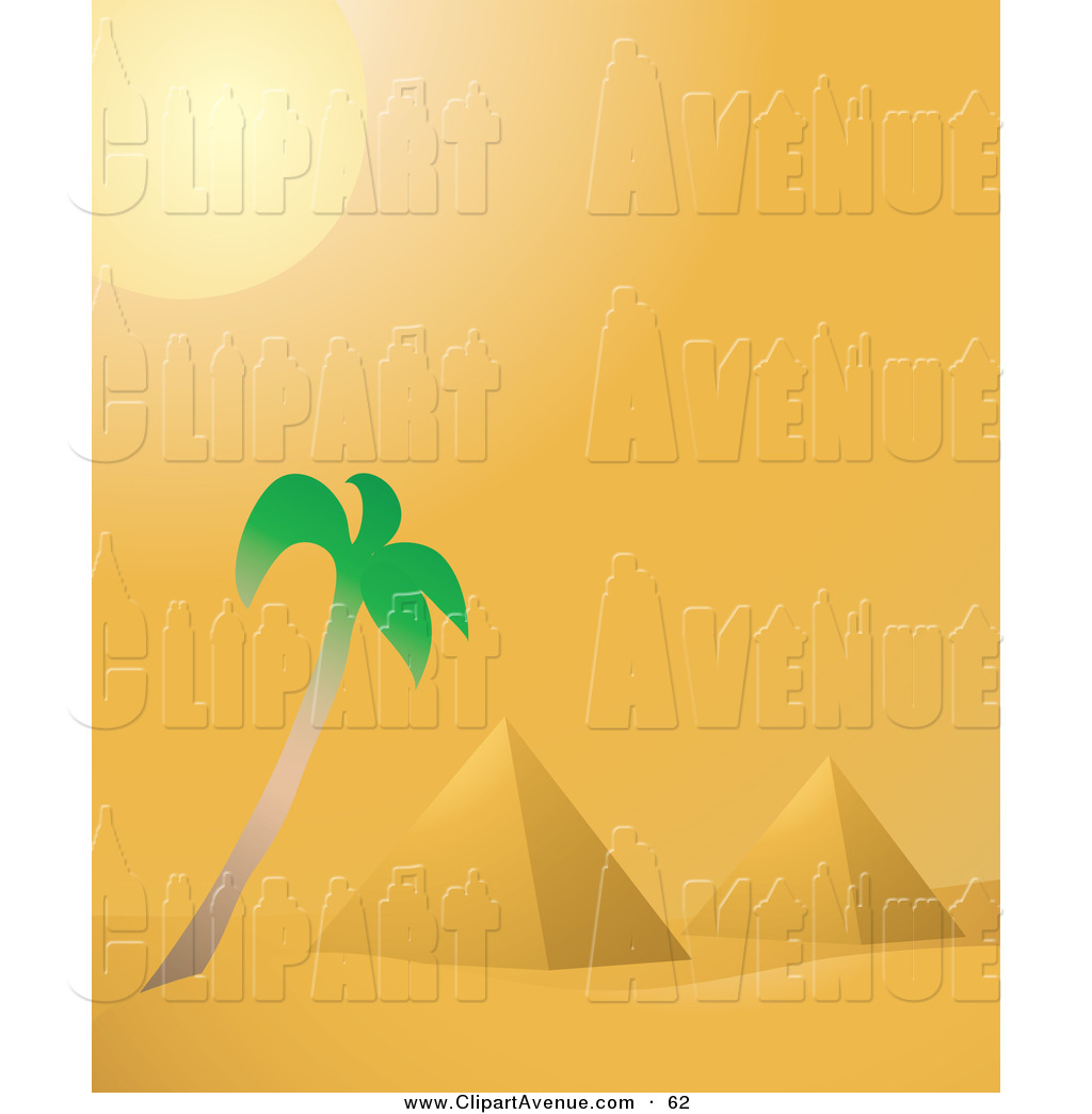 In The Desert clipart ancient egypt pyramid Avenue Shining the Hot Desert