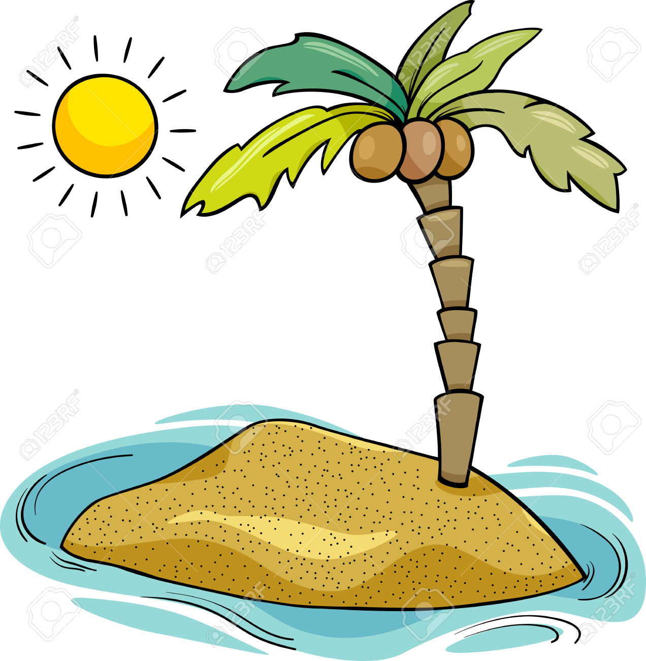 Palm Tree clipart deserted island Island Clipart ClipartMe Animation Clipart