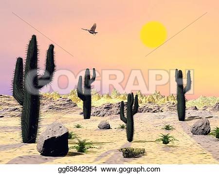 In The Desert clipart arizona Desert Drawing Illustration and render