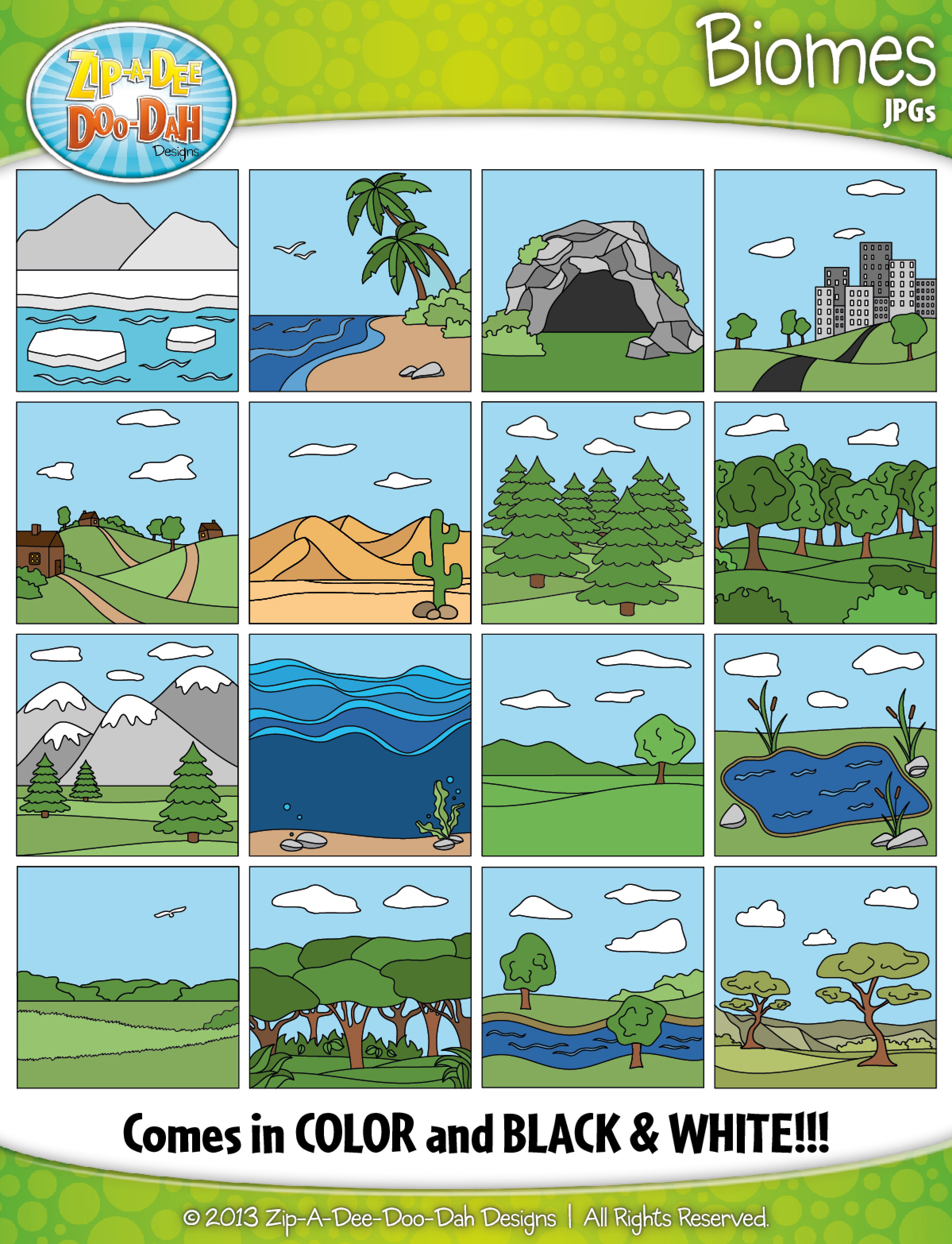 Wilderness clipart ecosystem Quality art Graphics — Biomes