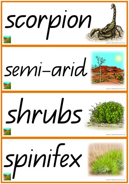 In The Desert clipart biome Desert QLD_Page_08 Words Resources 3
