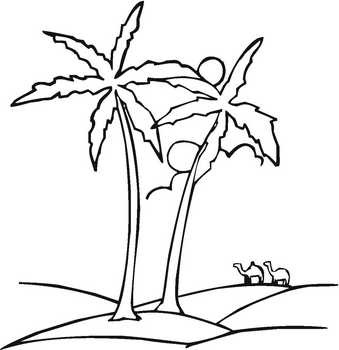 In The Desert clipart black and white Black white kid 5 and