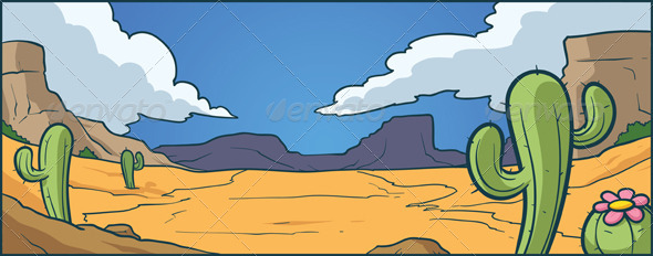 In The Desert clipart cartoon  Desert Background Graphic and