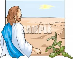 In The Desert clipart cartoon A Clip Jesus Walking Walking