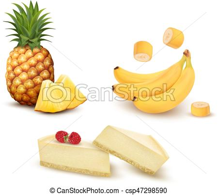 Banana clipart different fruit And banana EPS cheesecake of