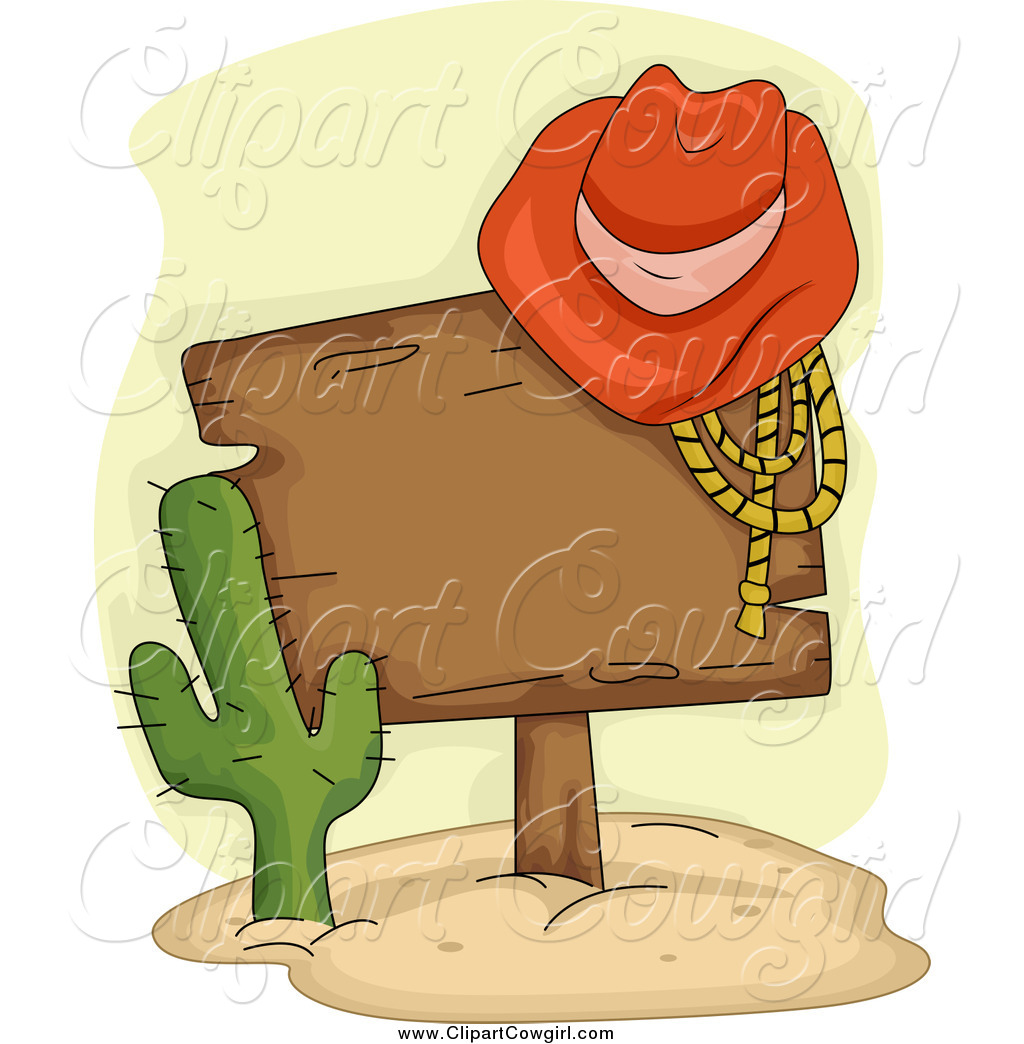 Cowgirl clipart lasso rope On Cactus Resting a Cowboy