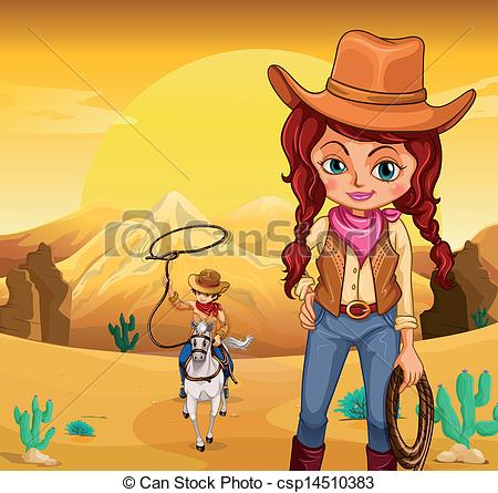 In The Desert clipart cowboy At the cowboy csp14510383 A