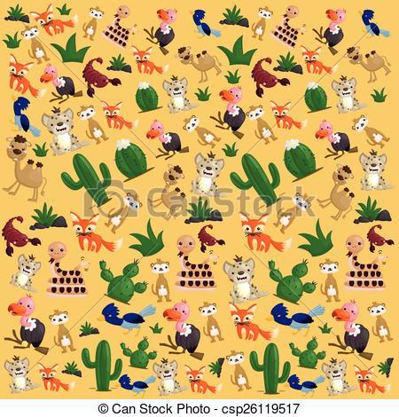 In The Desert clipart desert animal Background Search Desert Vector Art